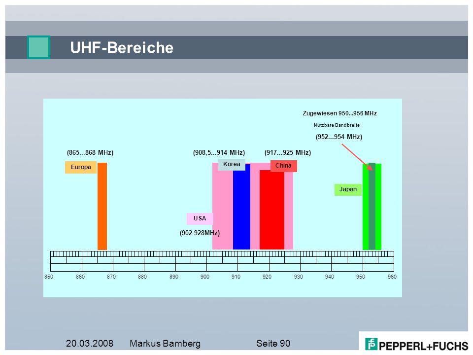 20.03.2008Markus BambergSeite 90 UHF-Bereiche
