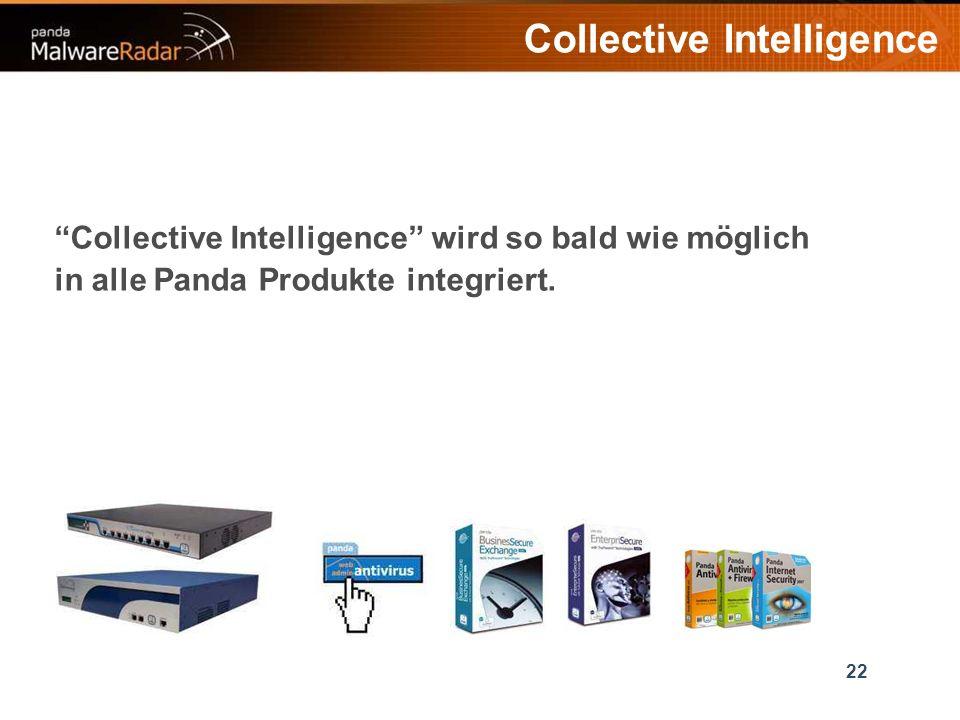 22 Collective Intelligence Collective Intelligence wird so bald wie möglich in alle Panda Produkte integriert.