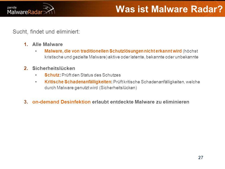 27 Was ist Malware Radar.