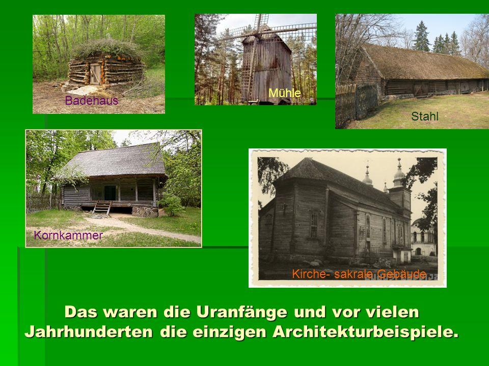 Aber die ersten gebildeten lettischen Bauernsöhne – Baumeister, wie Konstantīns Pēkšēns und Eižens Laube, bauten am Ende des 19.