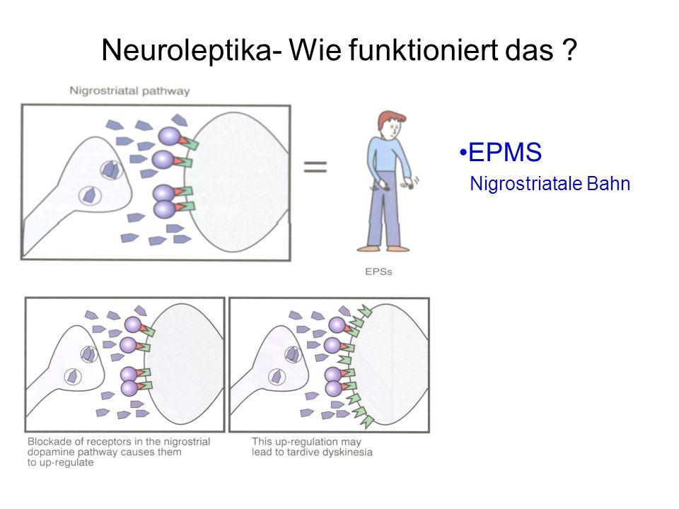Neuroleptika- Wie funktioniert das ? EPMS Nigrostriatale Bahn