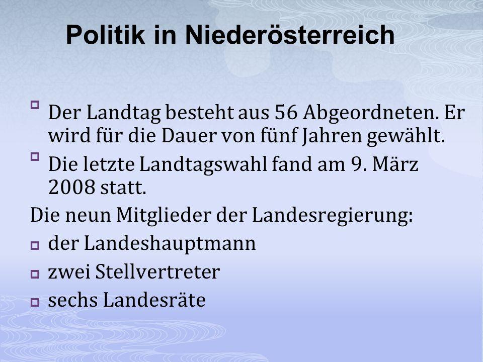 Der Landtag besteht aus 56 Abgeordneten. Er wird für die Dauer von fünf Jahren gewählt. Die letzte Landtagswahl fand am 9. März 2008 statt. Die neun M