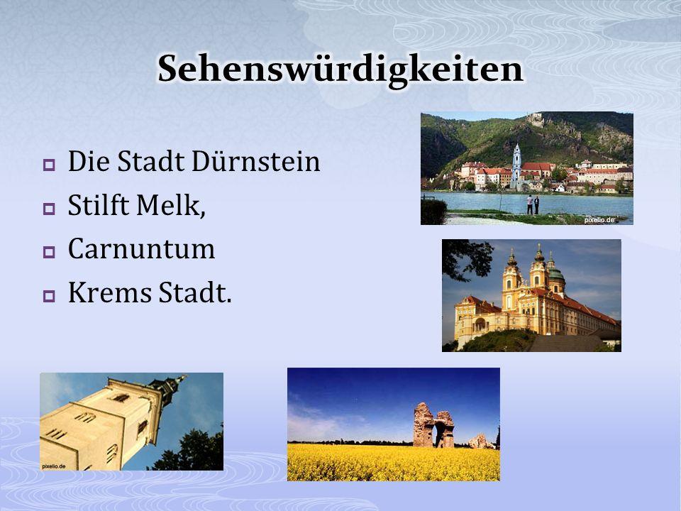 Die Stadt Dürnstein Stilft Melk, Carnuntum Krems Stadt.