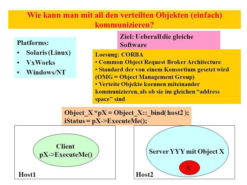 Wie kann man mit all den verteilten Objekten (einfach) kommunizieren.
