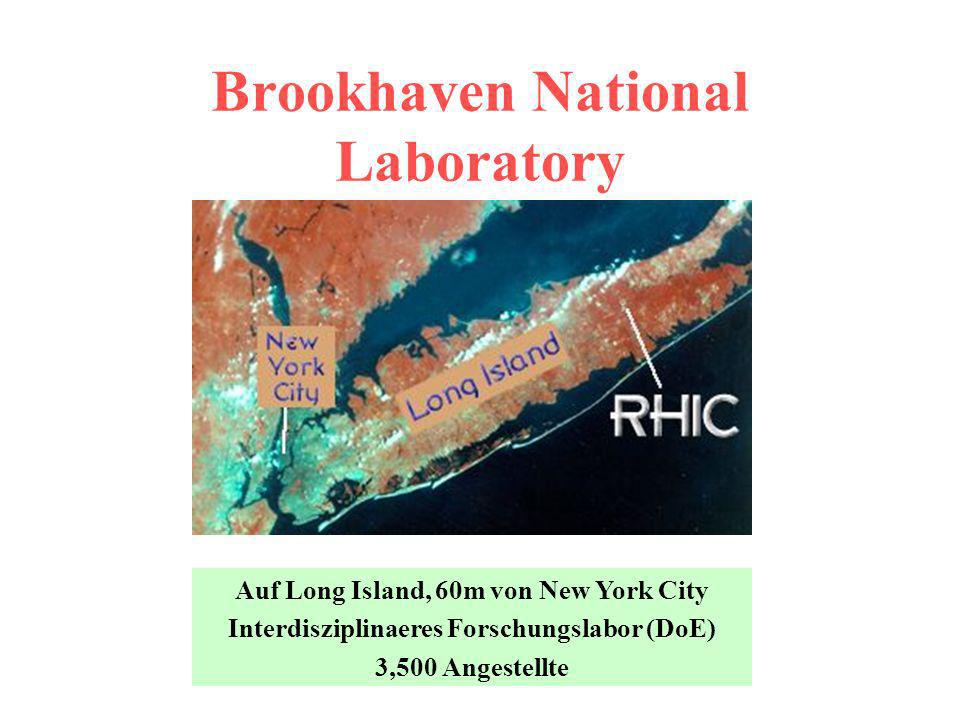 Brookhaven National Laboratory Auf Long Island, 60m von New York City Interdisziplinaeres Forschungslabor (DoE) 3,500 Angestellte