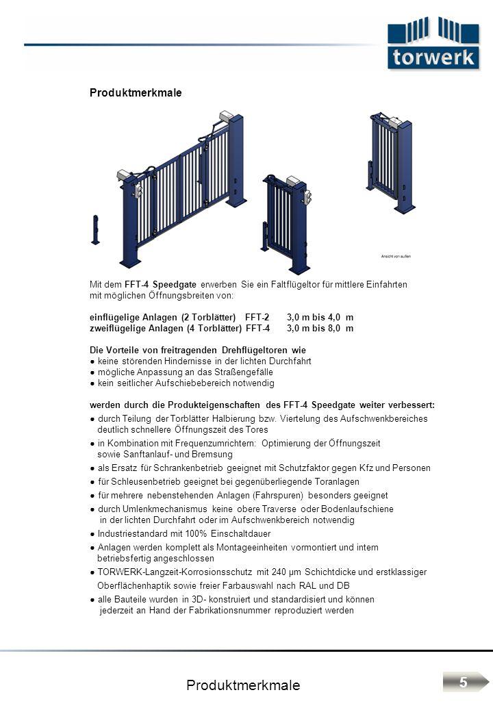 Zusatzkomponenten Frequenzumrichter Aufrüstung zum Schnelllauftor - Torgeschwindigkeit V max = 1,0 m / s - Sanftanlauf und Bremsen in den Endlagen SPS- Steuerung frei programmierbar: Typ TORWERK- Siemens S7-200 - Verknüpfungen mehrerer Tore - Schleusenfunktionen - Anbindung an die Gebäudetechnik Funkanlagen: Fernsteuerung von Torantrieben, Beleuchtungen, Alarmanlagen und anderer Geräte (auch mit Hilfe zusätzliche programmierbarer Relais), sowie einer Vielzahl anderer individueller Möglichkeiten.