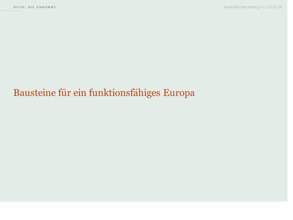 Walter Blüchert Stiftung | 11.2.2013 | 25 Bausteine für ein funktionsfähiges Europa