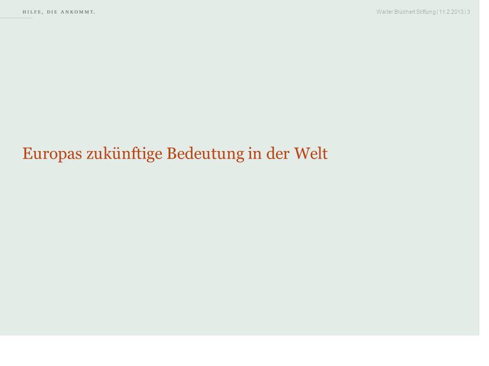 Walter Blüchert Stiftung | 11.2.2013 | 24 2.