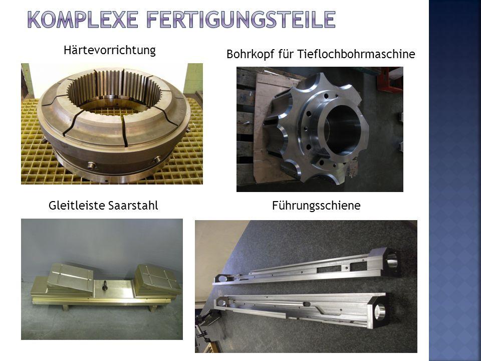 Härtevorrichtung Bohrkopf für Tieflochbohrmaschine Gleitleiste SaarstahlFührungsschiene