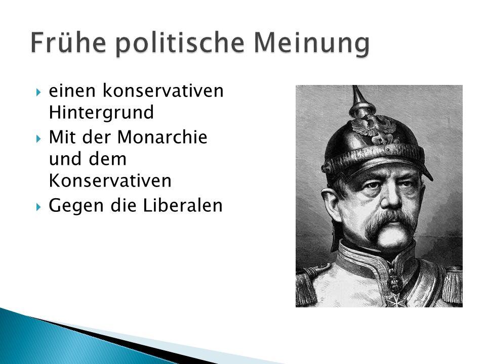 einen konservativen Hintergrund Mit der Monarchie und dem Konservativen Gegen die Liberalen