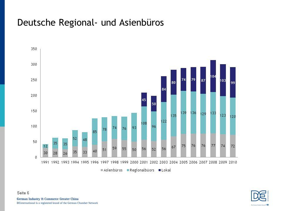 Seite 6 Deutsche Regional- und Asienbüros