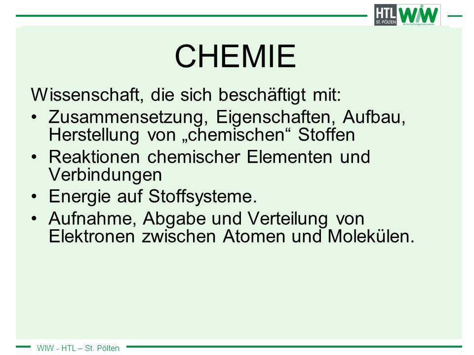 WIW - HTL – St.Pölten 0.3 Geschichte der Chemie ALCHIMIE (300 v.