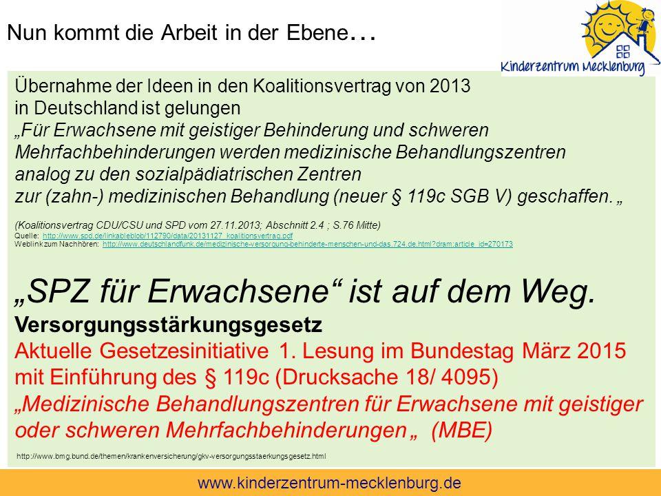 """Nun kommt die Arbeit in der Ebene … Übernahme der Ideen in den Koalitionsvertrag von 2013 in Deutschland ist gelungen """"Für Erwachsene mit geistiger Be"""