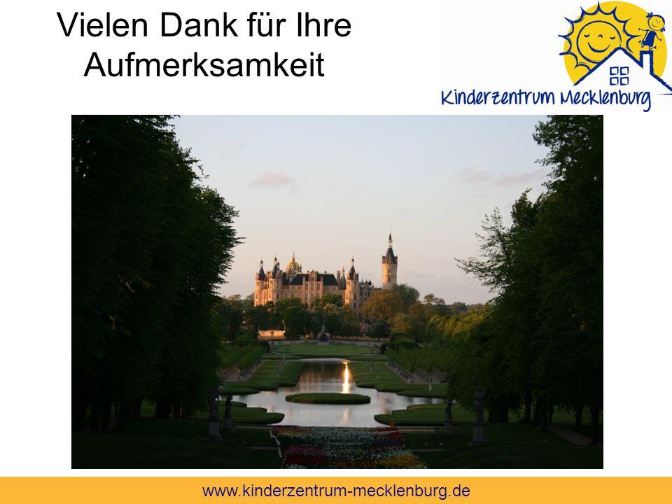 Vielen Dank für Ihre Aufmerksamkeit www.kinderzentrum-mecklenburg.de