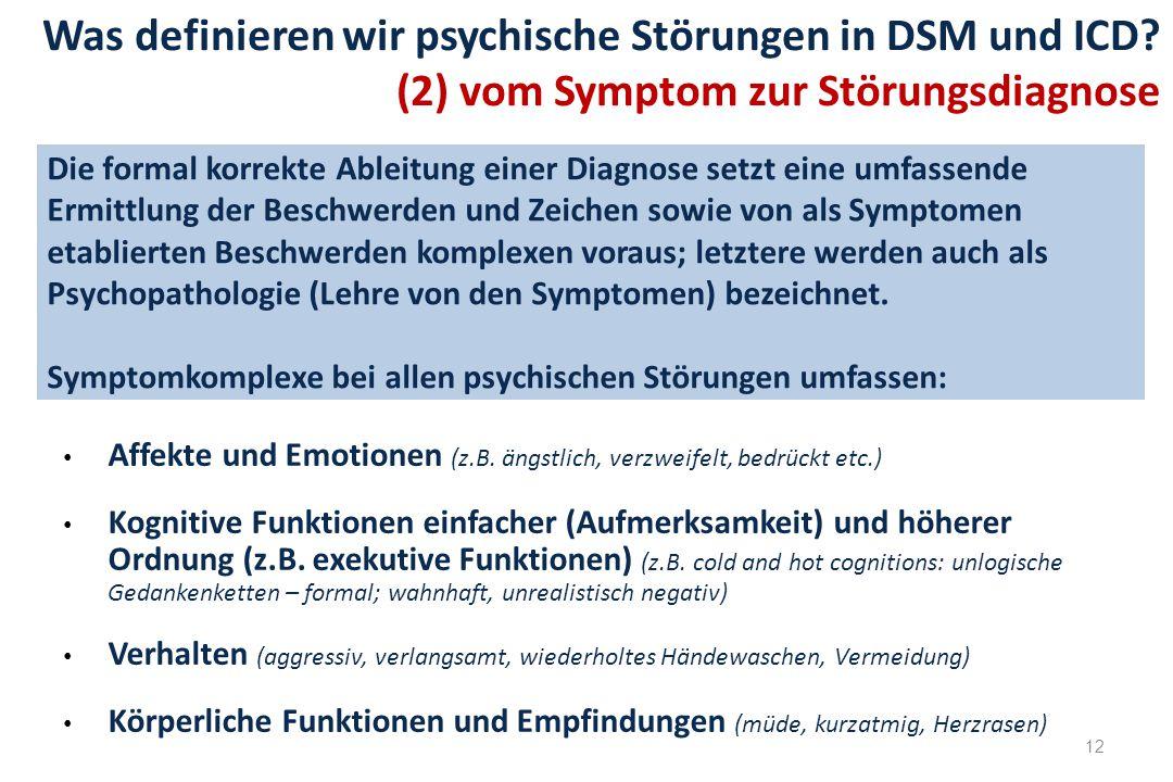 12 Die formal korrekte Ableitung einer Diagnose setzt eine umfassende Ermittlung der Beschwerden und Zeichen sowie von als Symptomen etablierten Besch