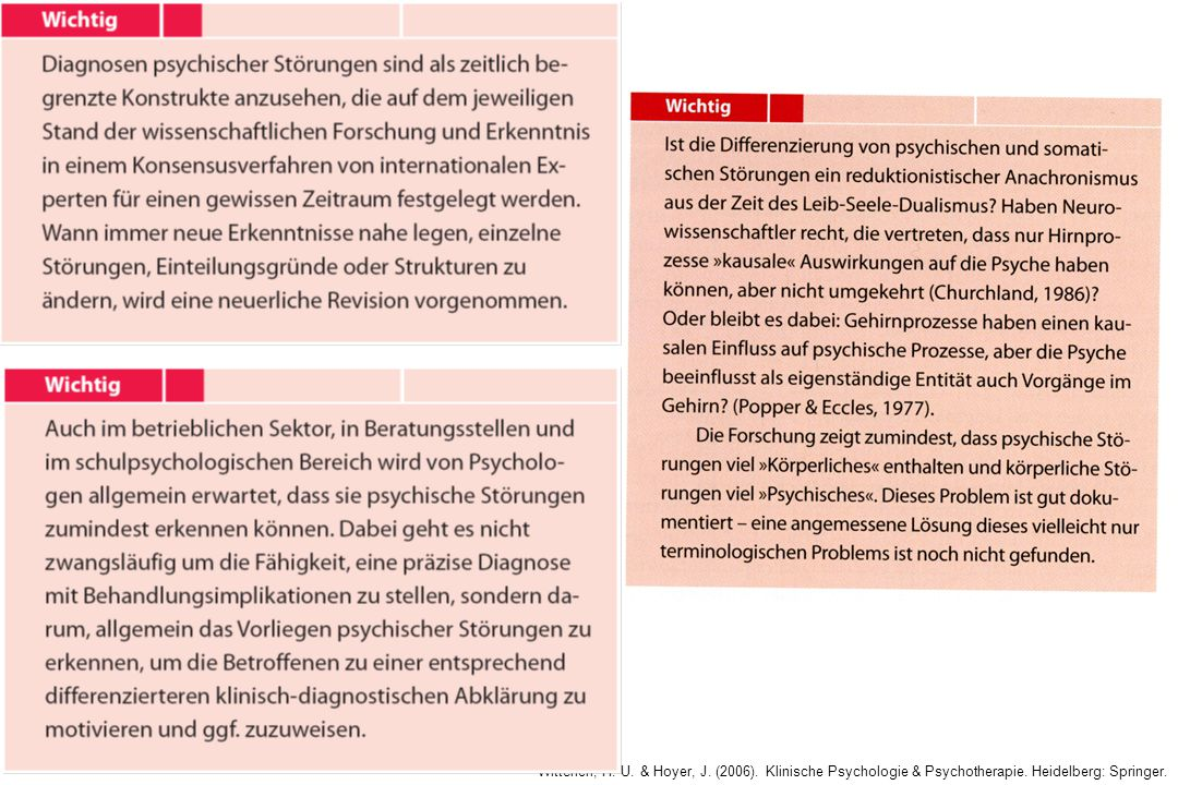 14 Symptomkomplexe bei allen psychischen Störungen umfassen Was sind psychische Störungen (2) vom Symptom zur Störung Verhalten: z.B.