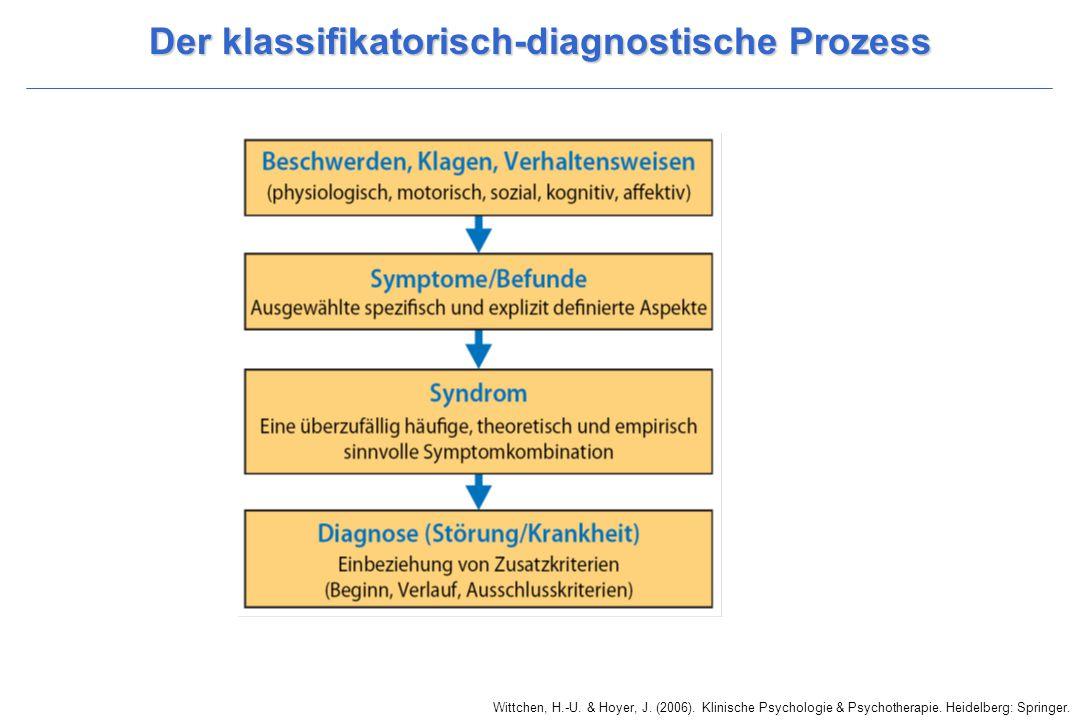 Wittchen, H.-U. & Hoyer, J. (2006). Klinische Psychologie & Psychotherapie. Heidelberg: Springer. Der klassifikatorisch-diagnostische Prozess