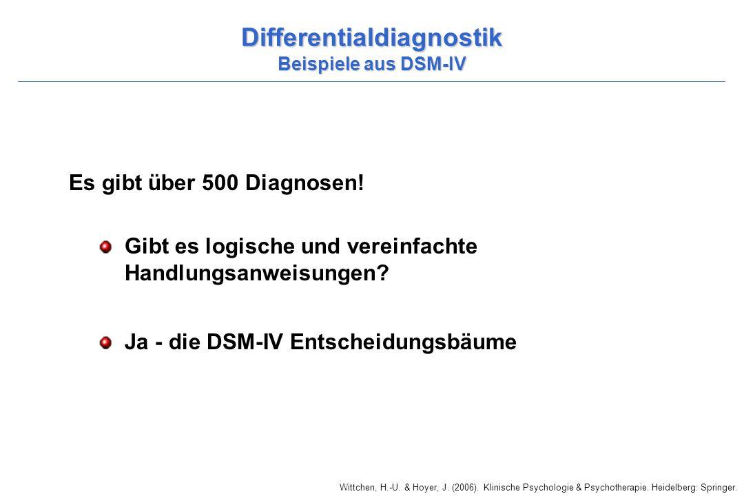 Wittchen, H.-U. & Hoyer, J. (2006). Klinische Psychologie & Psychotherapie. Heidelberg: Springer. Differentialdiagnostik Beispiele aus DSM-IV Es gibt