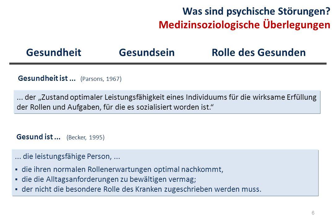 17 Was sind psychische Störungen.(3) Klassifikation – Ziele und Nutzen Wittchen (2011), S.