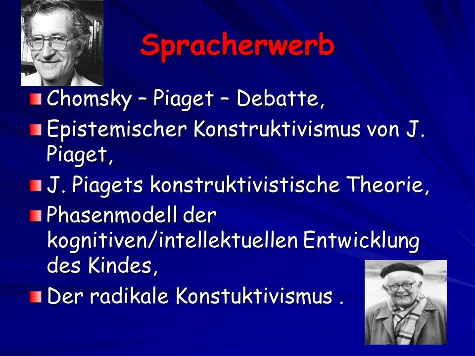 Spracherwerb Chomsky – Piaget – Debatte, Epistemischer Konstruktivismus von J.