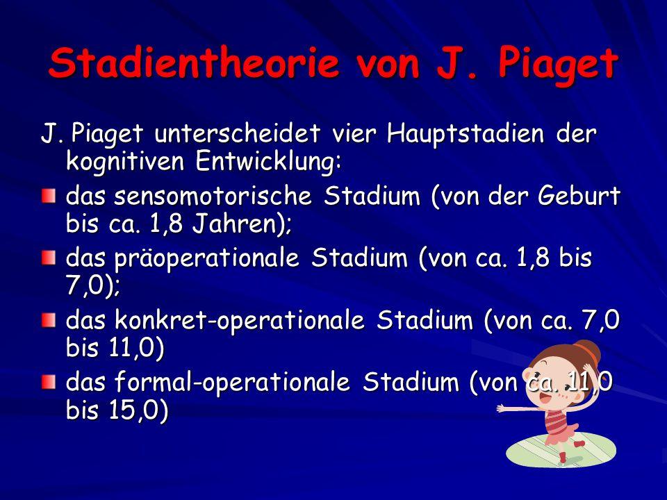 Stadientheorie von J.Piaget J.