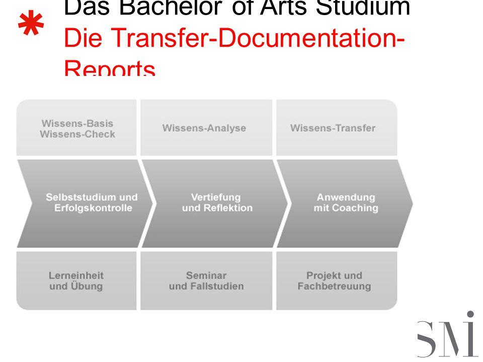 Das Bachelor of Arts Studium Ablauf der Projektarbeit 1.