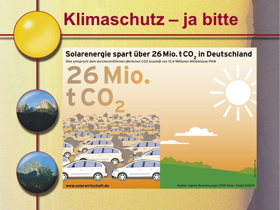 Klimaschutz – ja bitte