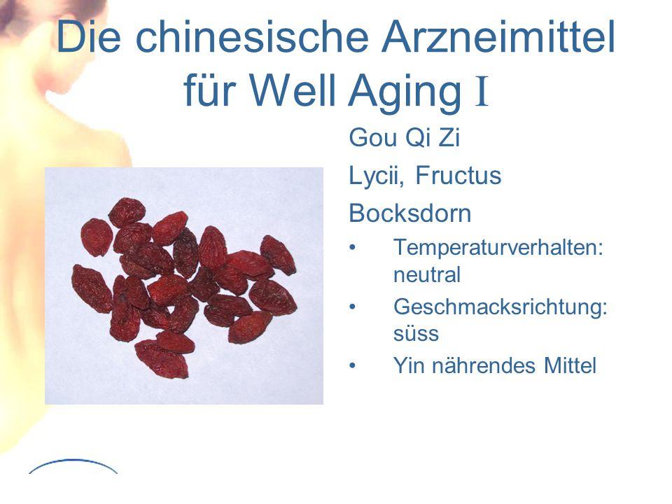 Die chinesische Arzneimittel für Well Aging I Gou Qi Zi Lycii, Fructus Bocksdorn Temperaturverhalten: neutral Geschmacksrichtung: süss Yin nährendes Mittel