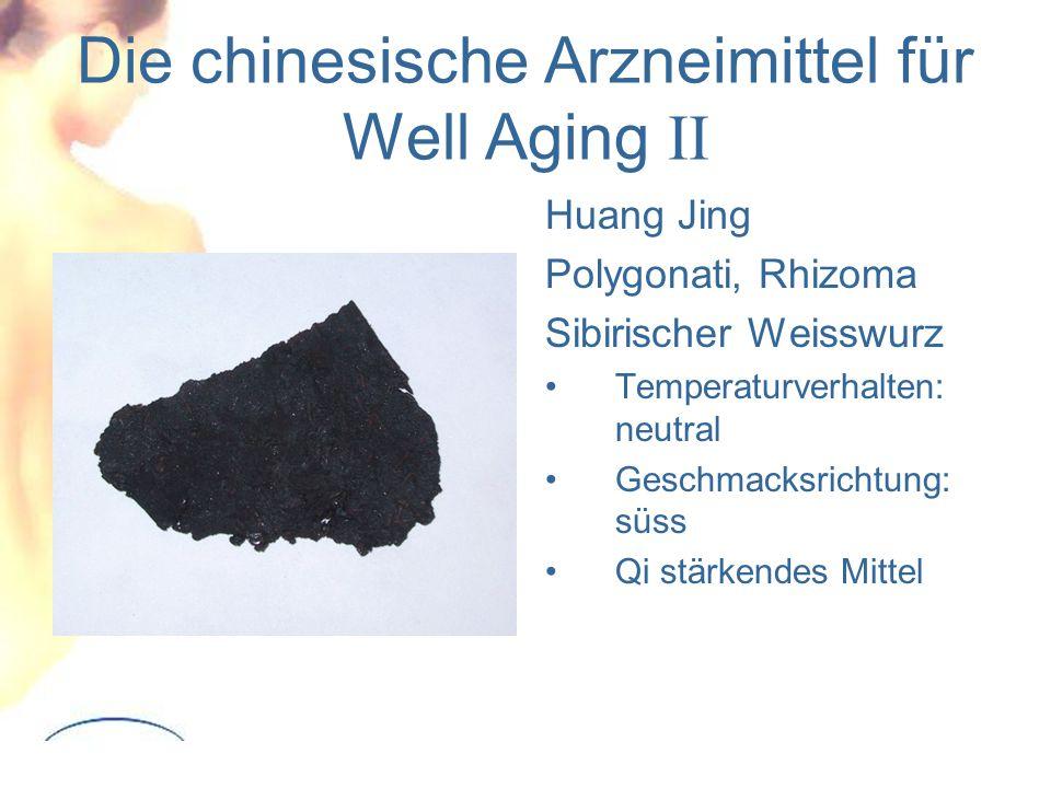 Die chinesische Arzneimittel für Well Aging II Huang Jing Polygonati, Rhizoma Sibirischer Weisswurz Temperaturverhalten: neutral Geschmacksrichtung: süss Qi stärkendes Mittel