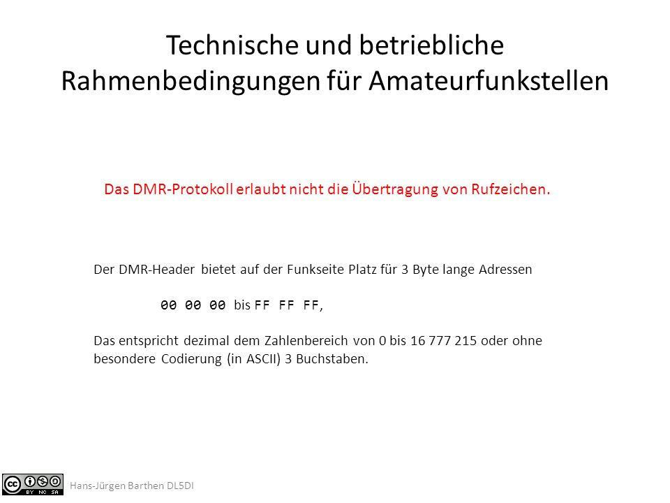 """Internationales DMR- Rufnummernschema DMR-ID: technisch bedingter Ersatz für das amtliche Amateurfunk-Rufzeichen Weltweit einheitliches System Öffentliche Cross-Referenz / Datenbank Basierend auf """"MCC Standard / ITU-T Recommendation E.212ITU-TE.212 (MCC = """"Mobile Country Code ) (http://en.wikipedia.org/wiki/Mobile_country_code) Hans-Jürgen Barthen DL5DI"""