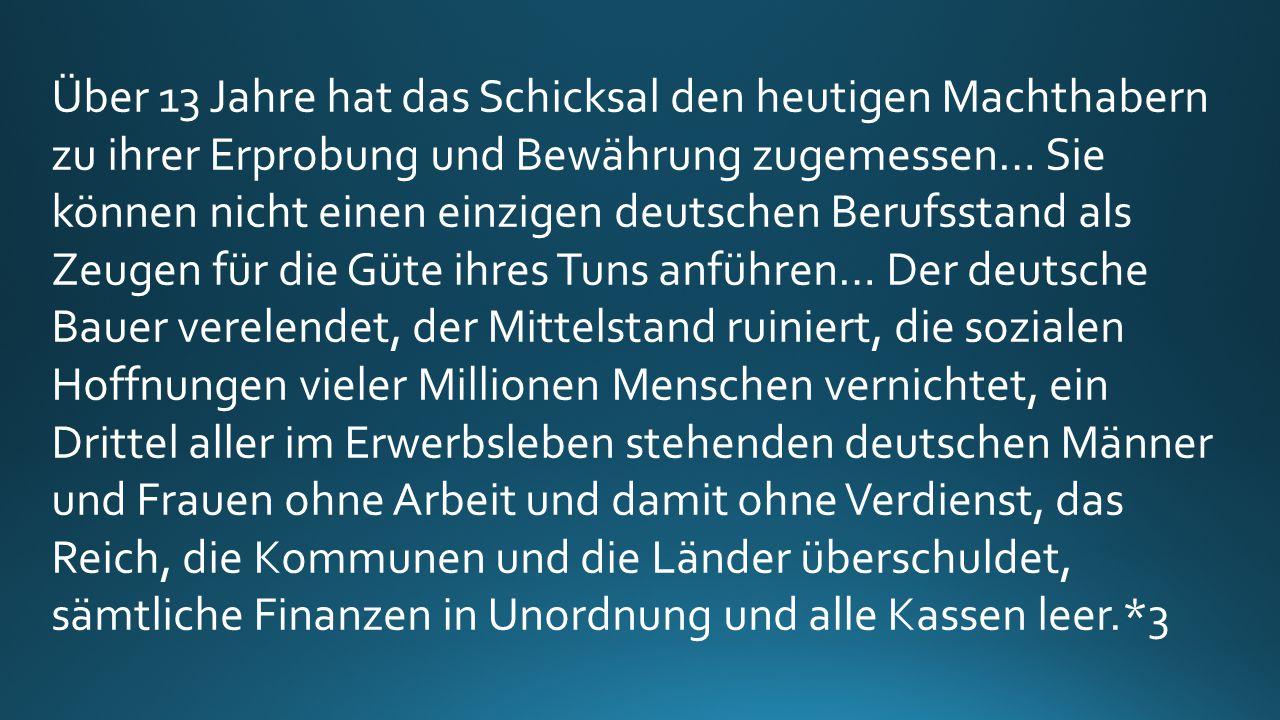 Wenn die bisherigen Parteien Deutschland ernstlich retten möchten, warum haben sie es dann nicht schon bisher getan.