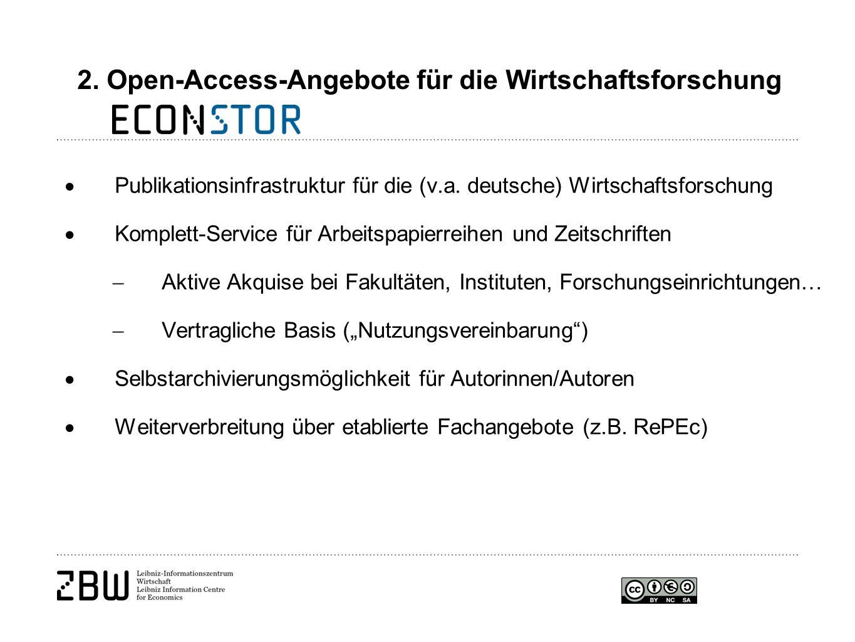  Publikationsinfrastruktur für die (v.a.