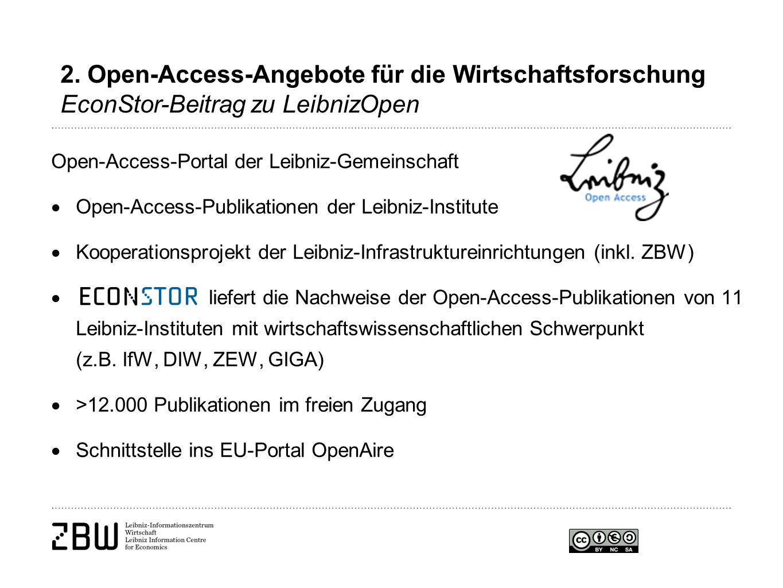 Open-Access-Portal der Leibniz-Gemeinschaft  Open-Access-Publikationen der Leibniz-Institute  Kooperationsprojekt der Leibniz-Infrastruktureinrichtungen (inkl.