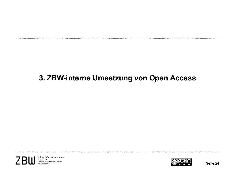 3. ZBW-interne Umsetzung von Open Access Seite 24