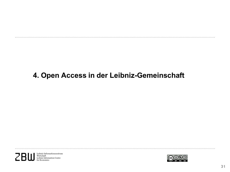 4. Open Access in der Leibniz-Gemeinschaft 31