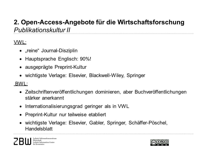 """VWL:  """"reine Journal-Disziplin  Hauptsprache Englisch: 90%."""
