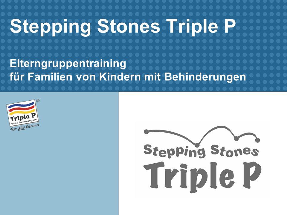 Stepping Stones Triple P Elterngruppentraining für Familien von Kindern mit Behinderungen