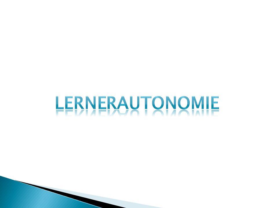 Lernerautonomie ist die Fähigkeit, das eigene Lernen selbstverantwortlich in die Hand nehmen zu können.