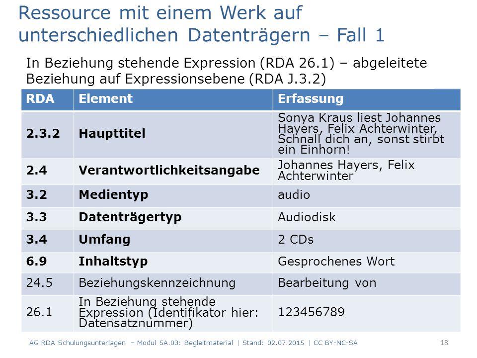 RDAElementErfassung 2.3.2Haupttitel Sonya Kraus liest Johannes Hayers, Felix Achterwinter, Schnall dich an, sonst stirbt ein Einhorn! 2.4Verantwortlic