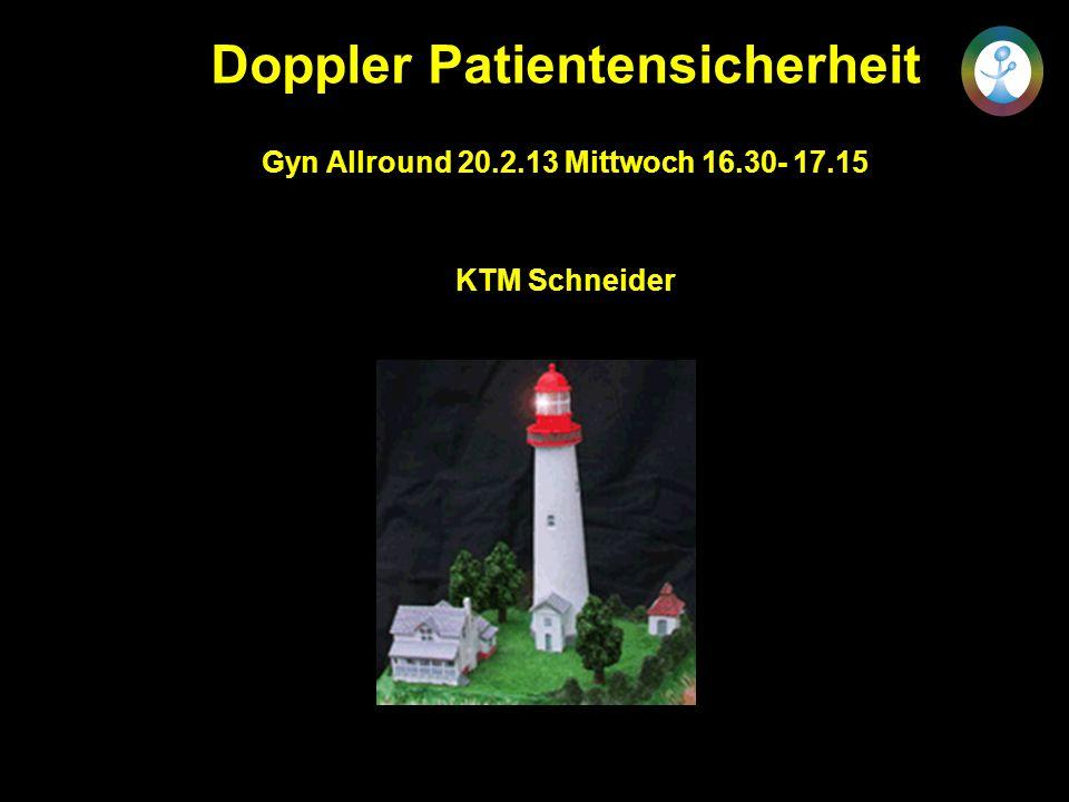Doppler Patientensicherheit Gyn Allround 20.2.13 Mittwoch 16.30- 17.15 KTM Schneider