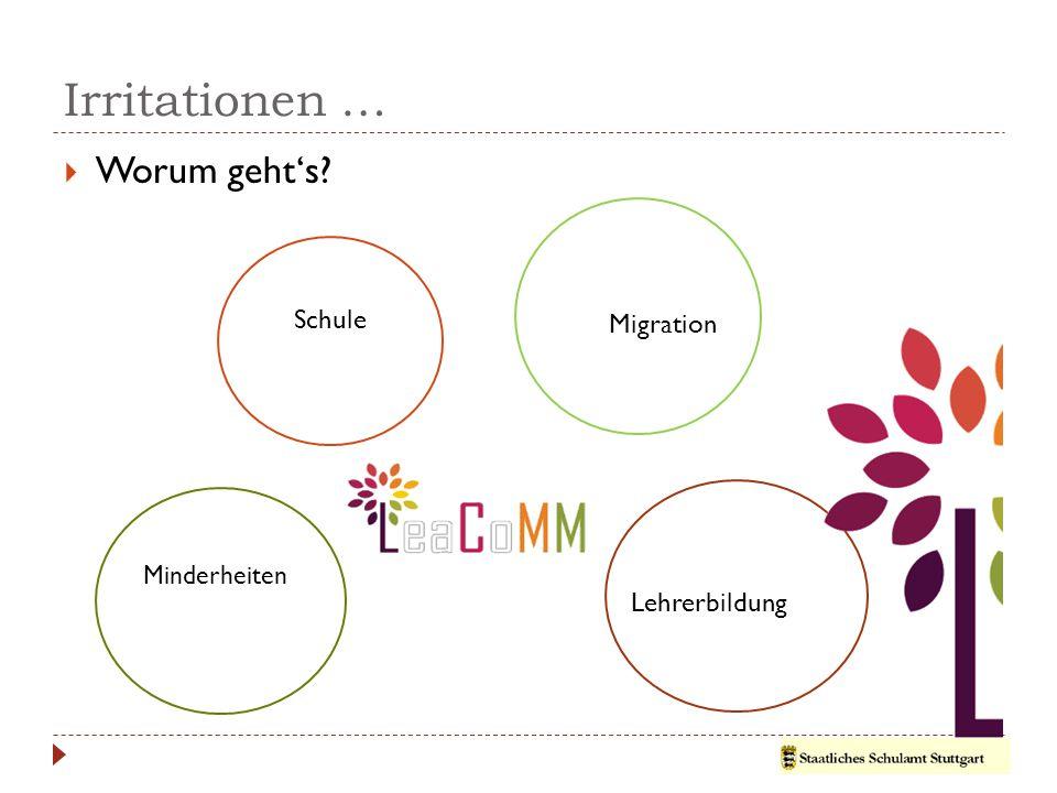 Irritationen …  Worum geht's? Schule Migration Lehrerbildung Minderheiten