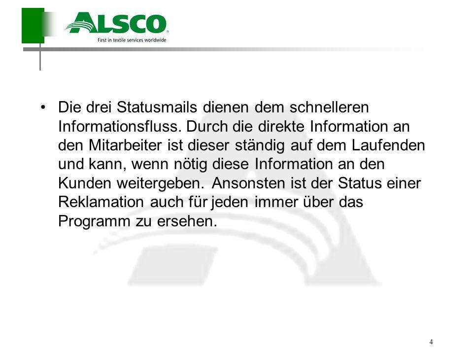 4 Die drei Statusmails dienen dem schnelleren Informationsfluss. Durch die direkte Information an den Mitarbeiter ist dieser ständig auf dem Laufenden