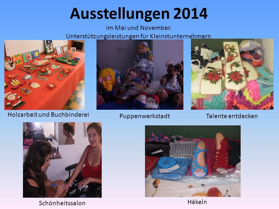 Ausstellungen 2014 im Mai und November.