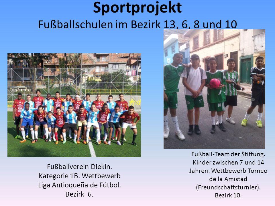 Fußballverein Semillas de Vida y Paz.Kinder zwischen 6 und 17 Jahren.