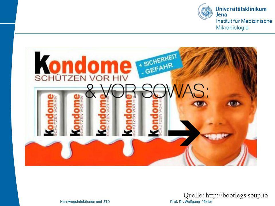 Institut für Medizinische Mikrobiologie Harnwegsinfektionen und STD Prof. Dr. Wolfgang Pfister Quelle: http://bootlegs.soup.io