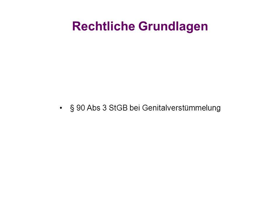 Rechtliche Grundlagen § 90 Abs 3 StGB bei Genitalverstümmelung