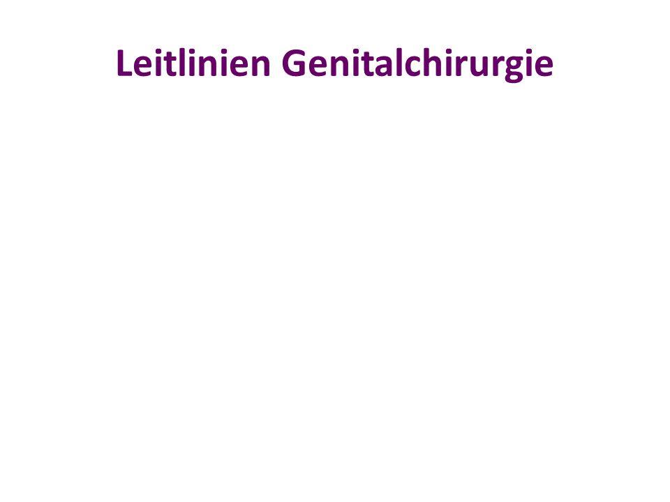 Leitlinien Genitalchirurgie