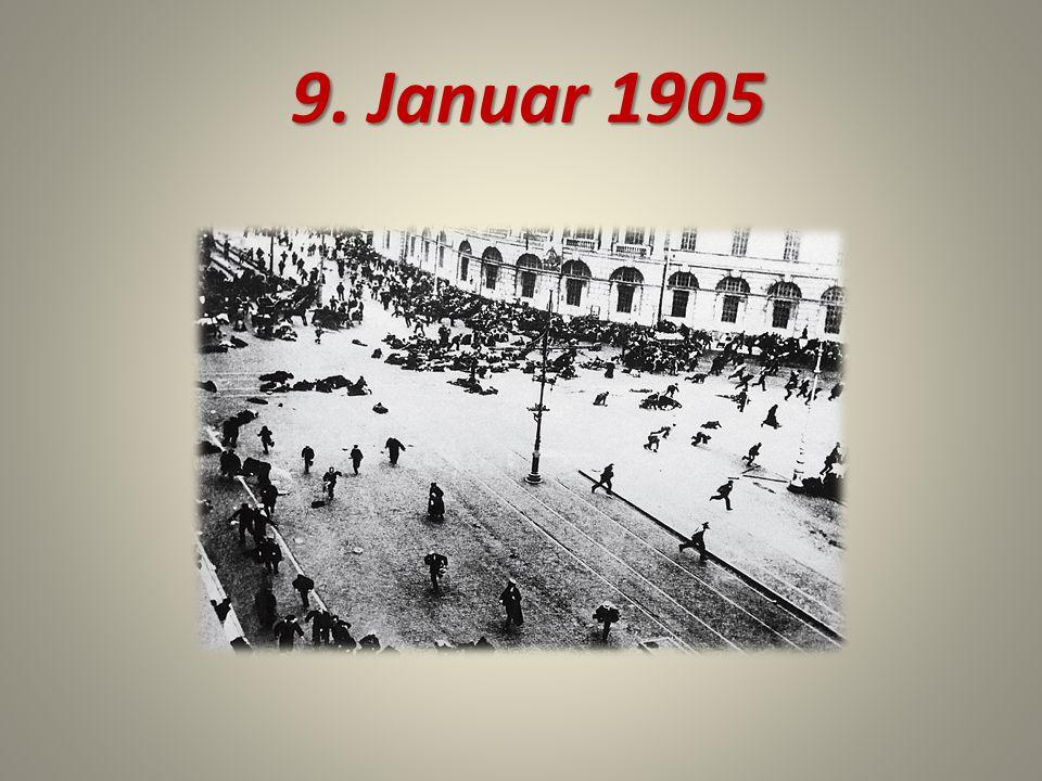 1905 Schon am Abend dieses Tages erschienen die Barrikaden in der Stadt, über die sich solche Losungen erhoben: Es lebe die Freiheit! .