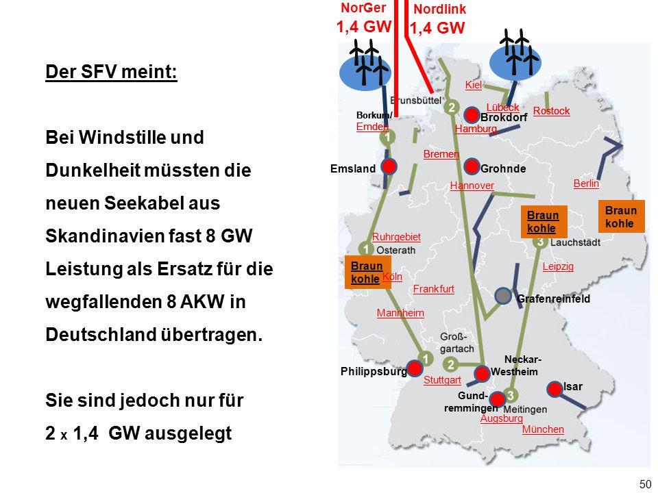 50 Borkum/ Emden Braun kohle Gund- remmingen Neckar- Westheim Hamburg Lübeck Berlin Braun kohle Augsburg München Kiel Rostock Ruhrgebiet Hannover Mann