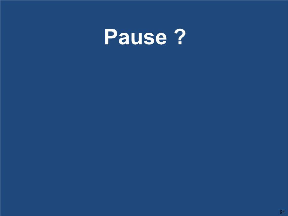 91 Pause ?